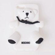 モスキーノ テディベア iphoneケース 5/5S/5C ホワイト
