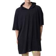 フェイスコネクション Hd Ov Ts フード付きオーバーサイズTシャツ ブラック