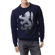 プリングル セーター ウール ネイビー