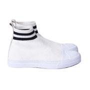 ニールバレット 靴下付きシューズ ニットレザー ホワイト