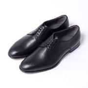 ポリーニ 外羽根式プレーントゥ 革靴 シューズ ブラック