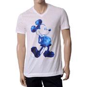 ニールバレット VネックTシャツ ミッキーマウス ホワイト