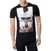 ニールバレット Tシャツ ウルフ コットン ブラック