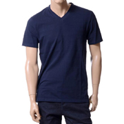 ニールバレット レイヤードVネックTシャツ コットン ネイビー