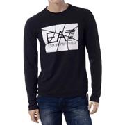エンポリオアルマーニセブン ea7ロゴロングTシャツ コットンストレッチ ブラック