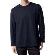 フェノメノン フォイルプリントロングTシャツ コットン ブラック