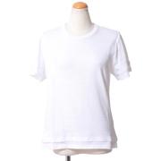 ニールバレット レイヤードラウンドネックTシャツ コットン ホワイト