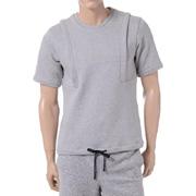 パブリックスクール 紐付きレイヤードTシャツ グレー
