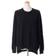 プリングル シンプル丸襟セーター カシミア ブラック