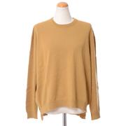 プリングル シンプル丸襟セーター カシミア カラシ