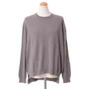 プリングル シンプル丸襟セーター カシミア ブラウンベージュ