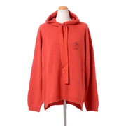 クイーンアンドベル フード付きセーター スコットランドカシミア レッド