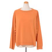 クイーンアンドベル ワイドシルエットセーター カシミア ライトオレンジ