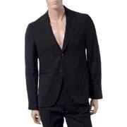 ラフシモンズ スーツ背抜きジャケット ウール ブラック