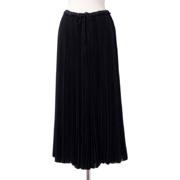 レキサミ ロング丈スカート プリーツ ブラック