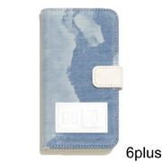 フェノメノン iPhone6Plus用ケース ブリーチデニムプリント ホワイト