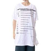 エムエムシックス メゾンマルジェラ ブランドロゴTシャツ コットンストレッチ ホワイト