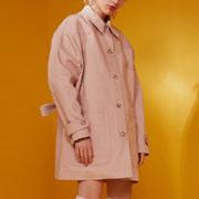 エムエムシックス メゾンマルジェラ オーバーサイズジャケットコート コットン ピンク