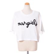 エムエムシックス メゾンマルジェラ margiela6ロゴクロップドTシャツ コットン ホワイト
