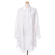 エムエムシックス メゾンマルジェラ アーカイブプリントシャツドレス コットン ホワイト