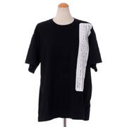 エムエムシックス メゾンマルジェラ アーカイブプリントTシャツ コットンジャージー ブラック