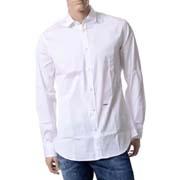 ディースクエアード (Dsquared2) M.Bシャツ ストレッチポプリンコットン ホワイト