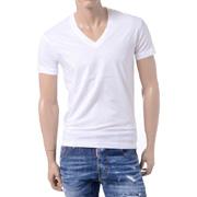 ディースクエアード24-7 VネックTシャツ コットン ホワイト