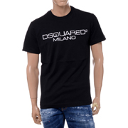 ディースクエアード ブランドロゴTシャツ コットン ブラック