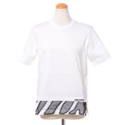 ディースクエアード ゼブラ模様裾切替えTシャツ コットン ホワイト