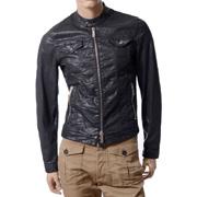 ディースクエアード 樹脂加工コーティングジャケット コットン ブラック