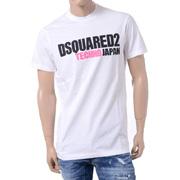 ディースクエアード ブランドロゴTECHNO JAP 半袖Tシャツ コットン ホワイト