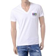 ディースクエアード Vネック半袖Tシャツ コットン ホワイト