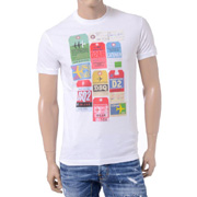 ディースクエアード プリント半袖Tシャツ コットン ホワイト