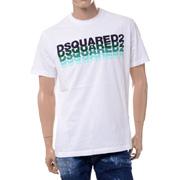 ディースクエアード マルチロゴTシャツ ホワイト