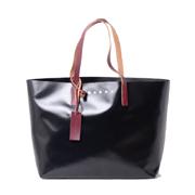 マルニ TRIBECAショッピングバッグ PVC ブラック
