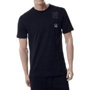ラフシモンズ デニムポケットTシャツ コットン ブラック