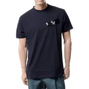 ラフシモンズ フレッドペリー(FRED PERRY) ドロップショルダーTシャツ コットン ブラック