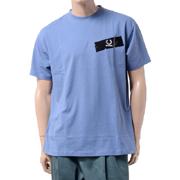 ラフシモンズ フレッドペリー(FRED PERRY) ドロップショルダーTシャツ コットン ブルー