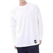 ラフシモンズ フレッドペリーFRED PERRY RSテープディテールロングTシャツ コットン ホワイト
