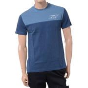 ラフシモンズ イニシャル刺繍Tシャツ コットン ピーコックブルー