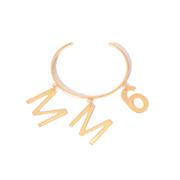 エムエムシックス メゾンマルジェラ MM6ロゴ付きバングル 真鍮 ゴールド