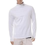 ラフシモンズ フレッドペリー ロールネックロングTシャツ コットンストレッチ ホワイト