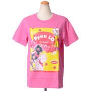 ライアン ロー パッケージプリント半袖Tシャツ コットン ピンク