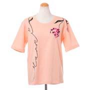 マルニ 背中リボン付きTシャツ コットン ライトピンク