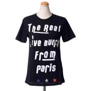 エトレセシル メッセージTシャツ コットンジャージー ブラック