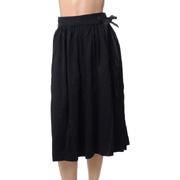 ルメール ベルト付きスカート コットンジャージー ブラック