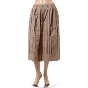 ブルネロクチネリ スパンコールギャザースカート コットンストレッチ サンドベージュ