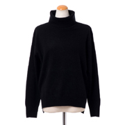 プラスプラス ウールカシミアハイネックセーター ヨコアンティオリジナル ブラック