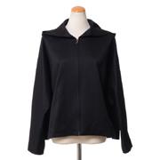 スタジオヨコ フード付きジャケット コットン ブラック